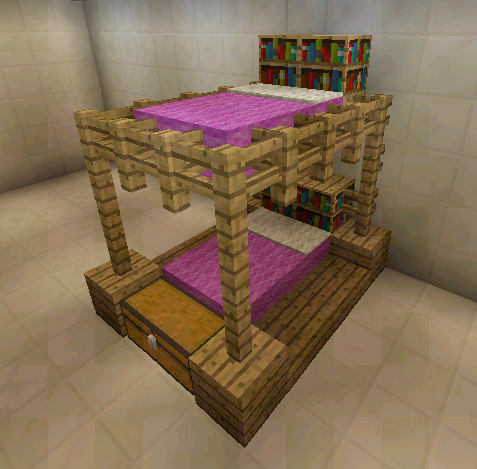Minecraft Pink Bunkbeds Minecraft Creations Pinterest