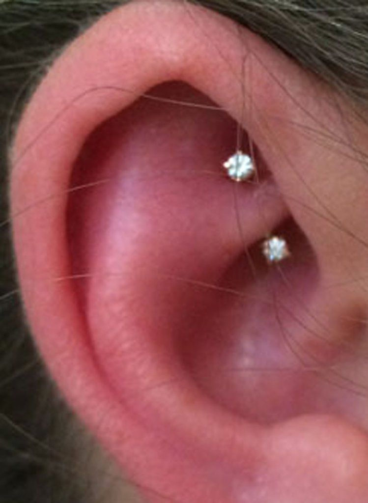 Simple Ear Piercing Ideas Rook Daith Earring Curved Barbell 16g