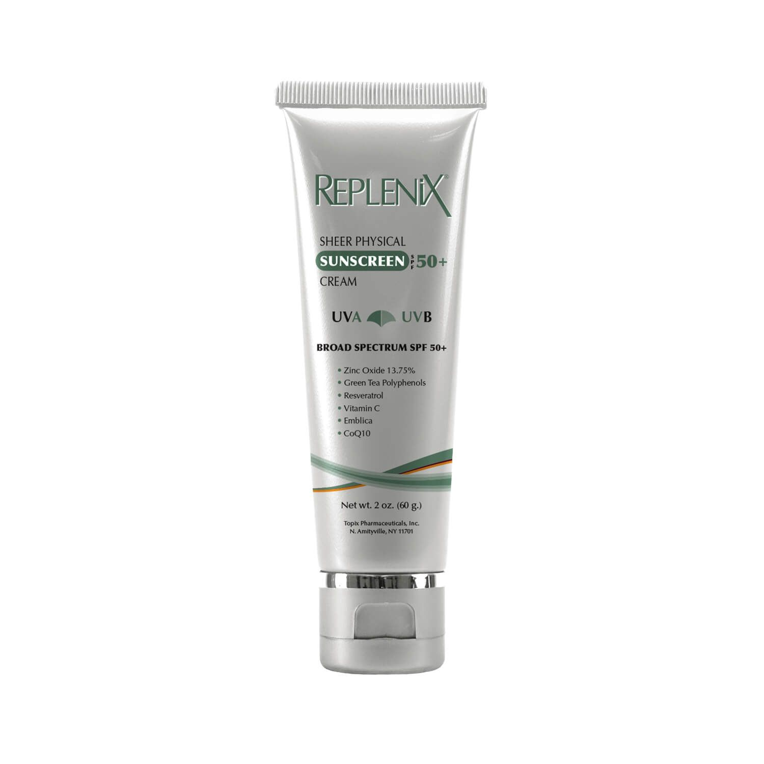 Replenix Sheer Physical Sunscreen Cream Spf 50 Sunscreen