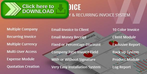 Free nulled Wilylab Invoice  Recurring \ Multiple Company Invoice - free billing invoice
