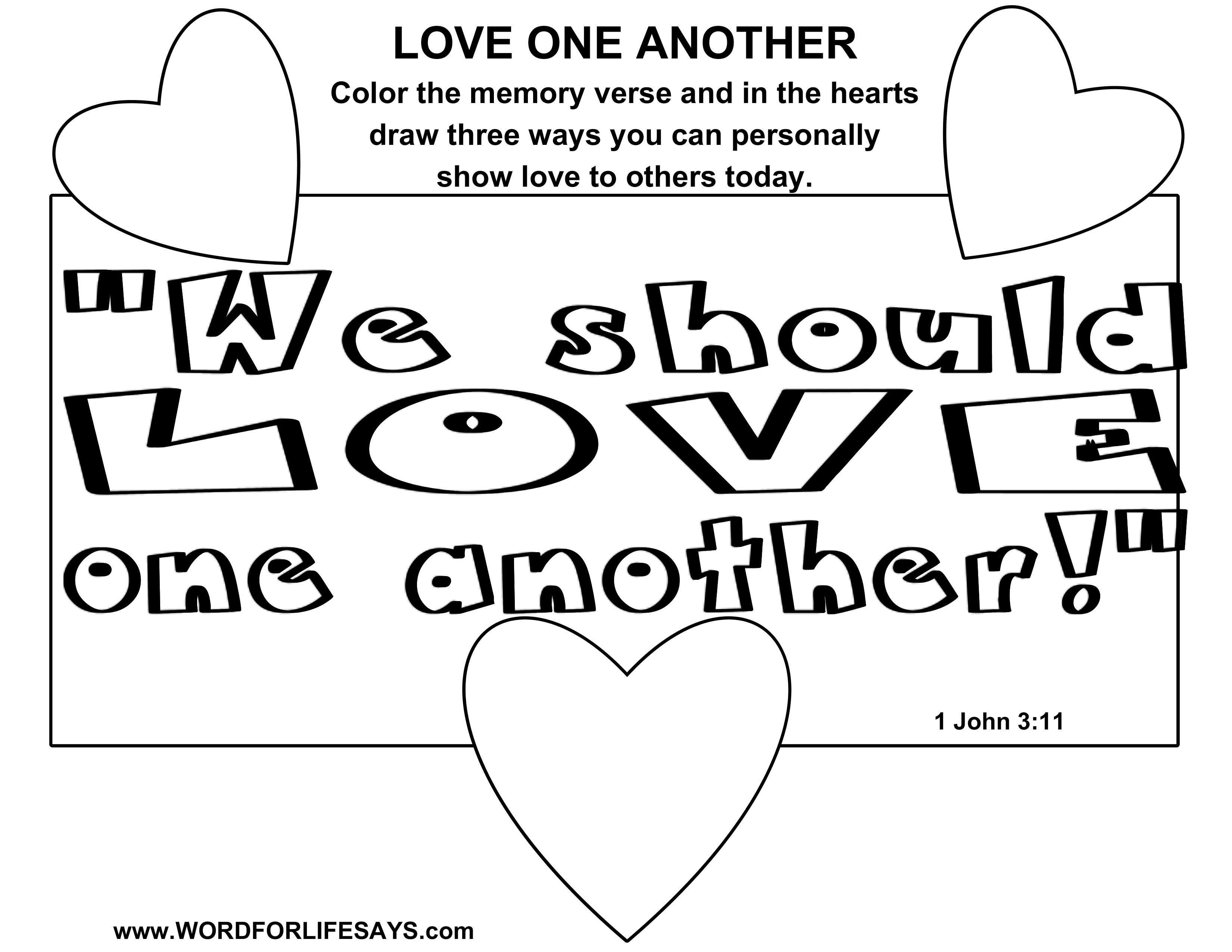 Love One Another Sunday School Lesson 1 John 3 11 24 April 12