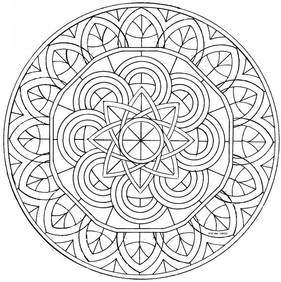 Dibujos Hindues Para Colorear Mandalas | dibujos colorear adultos ...