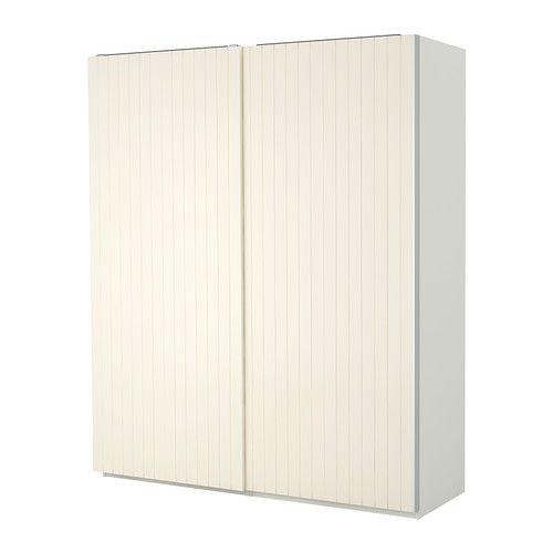 Kleiderschrank ikea  PAX Wardrobe, white, Bergsfjord white | Pax wardrobe, Hallway ...