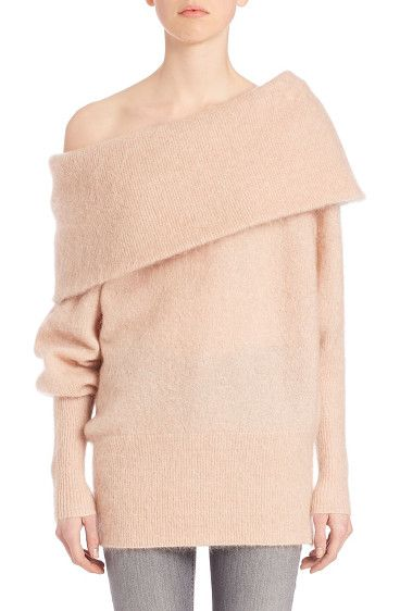 Off-the-shoulder oversized sweater by Acne Studios. Sweater with exaggerated off-the-shoulder necklineOff-the-shoulder necklineLong sleevesRibbed cuf...