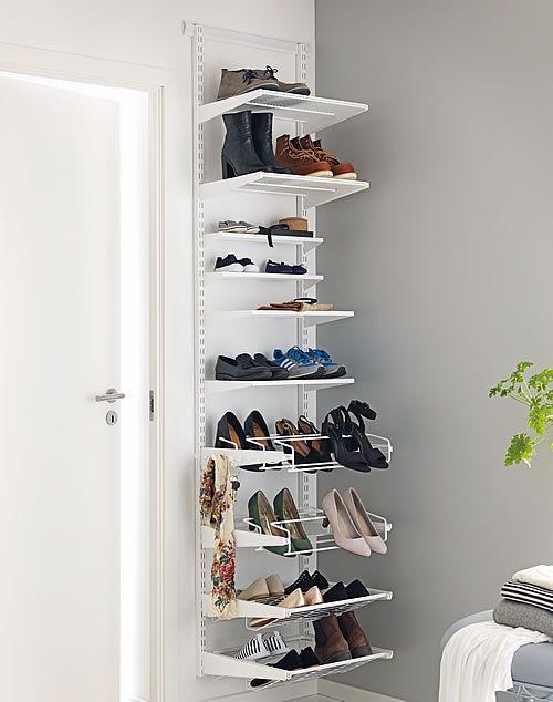 36 Best Shoes images | Closet bedroom, White closet, Closet