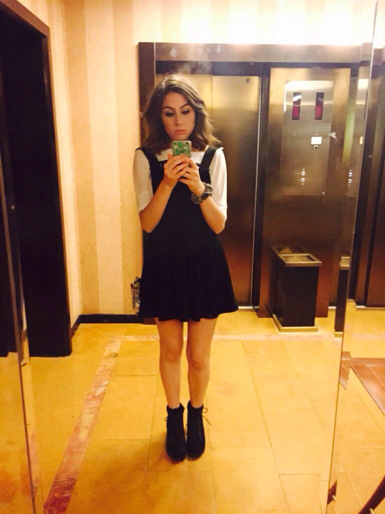 Dodie Clark - PINAFORE DRESS (simple, layered with different shirts & paired with boots)
