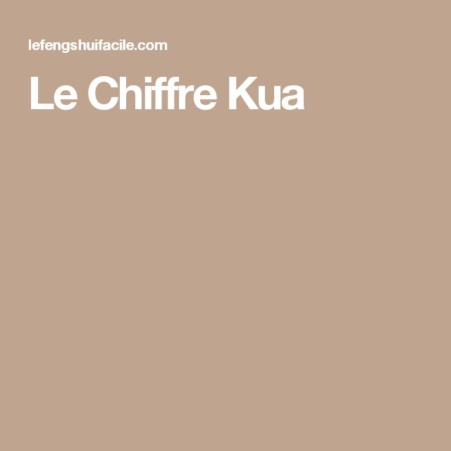 Le Chiffre Kua | Feng shui | Pinterest | Chiffre, Feng shui et Fortune