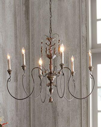 Nto Vintage Copper 6 Light Chandelier Lighting Dining Room Rustic