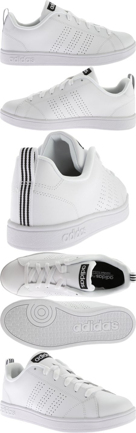 separation shoes ea0da 7200e Adidas NEO Womens Advantage Clean VS W Casual Sneaker,WhiteWhiteBlack,10  M US