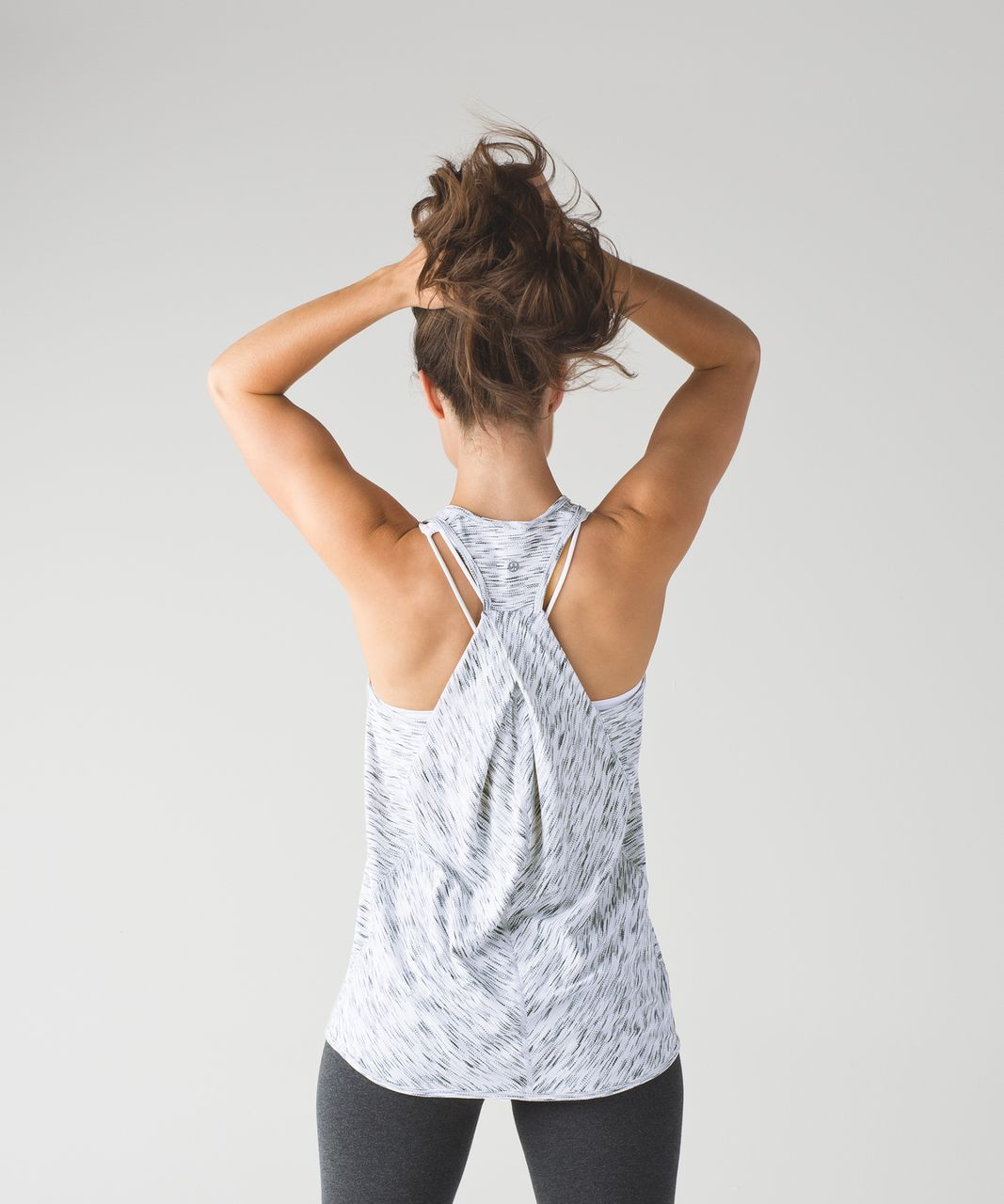 a11afb97b8 Lululemon Essential Tank - Tiger Space Dye Black White (First ...
