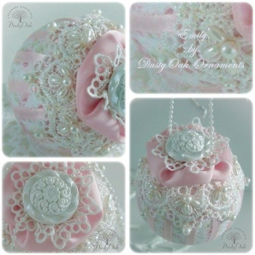 Quilted Styrofoam Ball Ornaments Stunning Christmas Pinterest Shabby Chic Christmas Ornaments Handmade Christmas Ornaments Victorian Christmas Ornaments