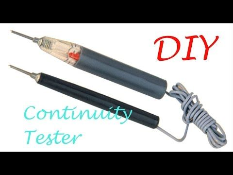 Modify Your Old Continuity Tester Use A Switch Youtube Electrical Projects Tester Diy Electronics