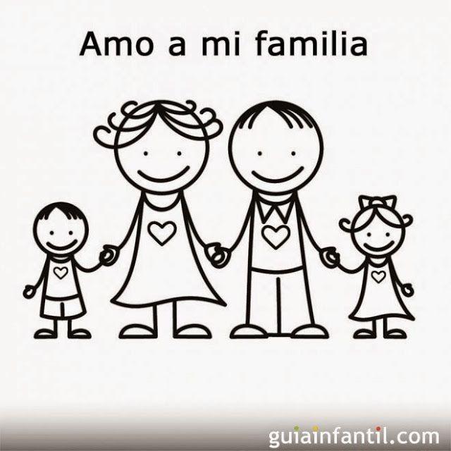Amo A Mi Familia Familia Para Dibujar Regalos Para La Familia Dia De La Familia