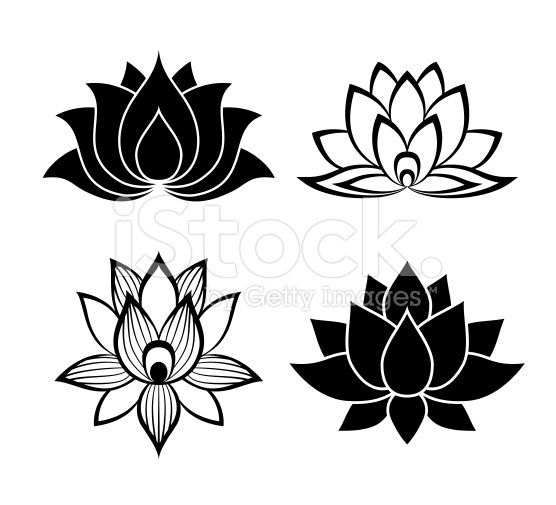 Lotus Flower Signs Set For The Perfect Web Design Dessin Fleur