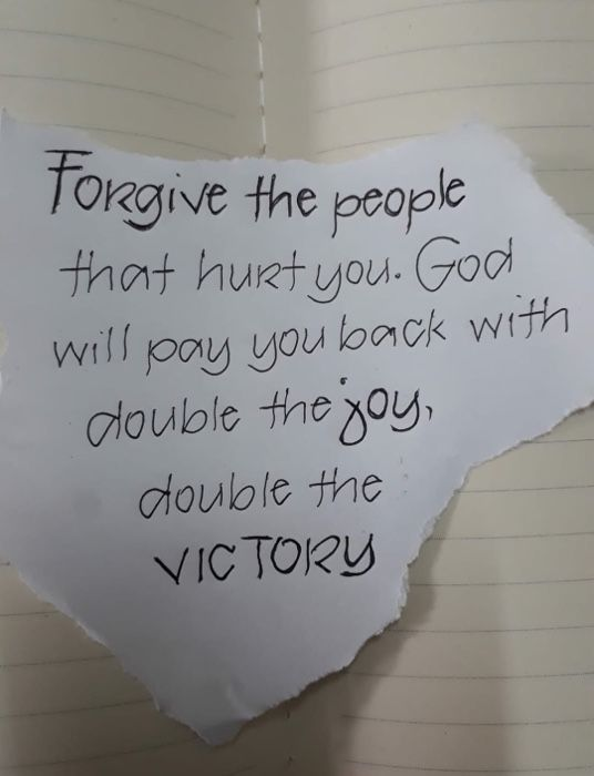 Forgive the people that hurt you. #forgiveness #forwardthinking