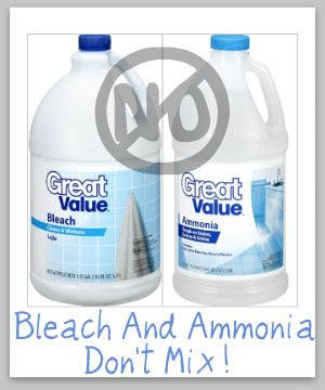 Bleach And Ammonia Don T Mix These Items Together Safety
