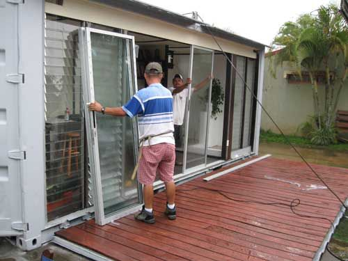 Add windows u0026 doors to shipping containers to make into homes offices or guest house & Add windows u0026 doors to shipping containers to make into homes ... pezcame.com
