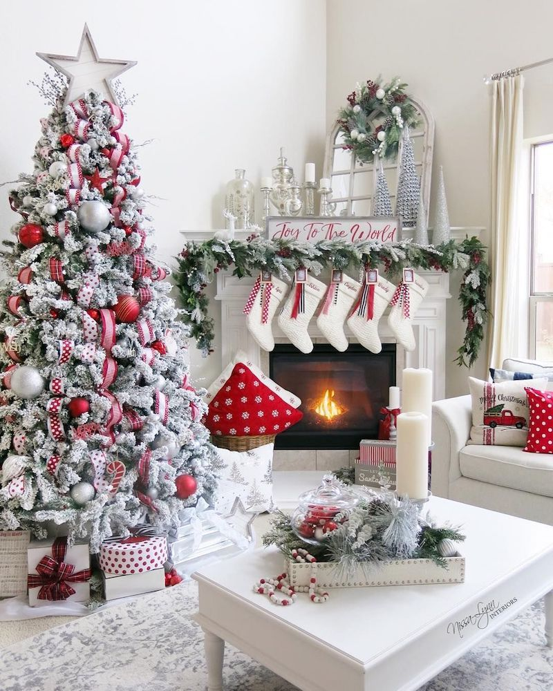 19 Festive Christmas Living Room Decor Ideas in 2020 | Elegant