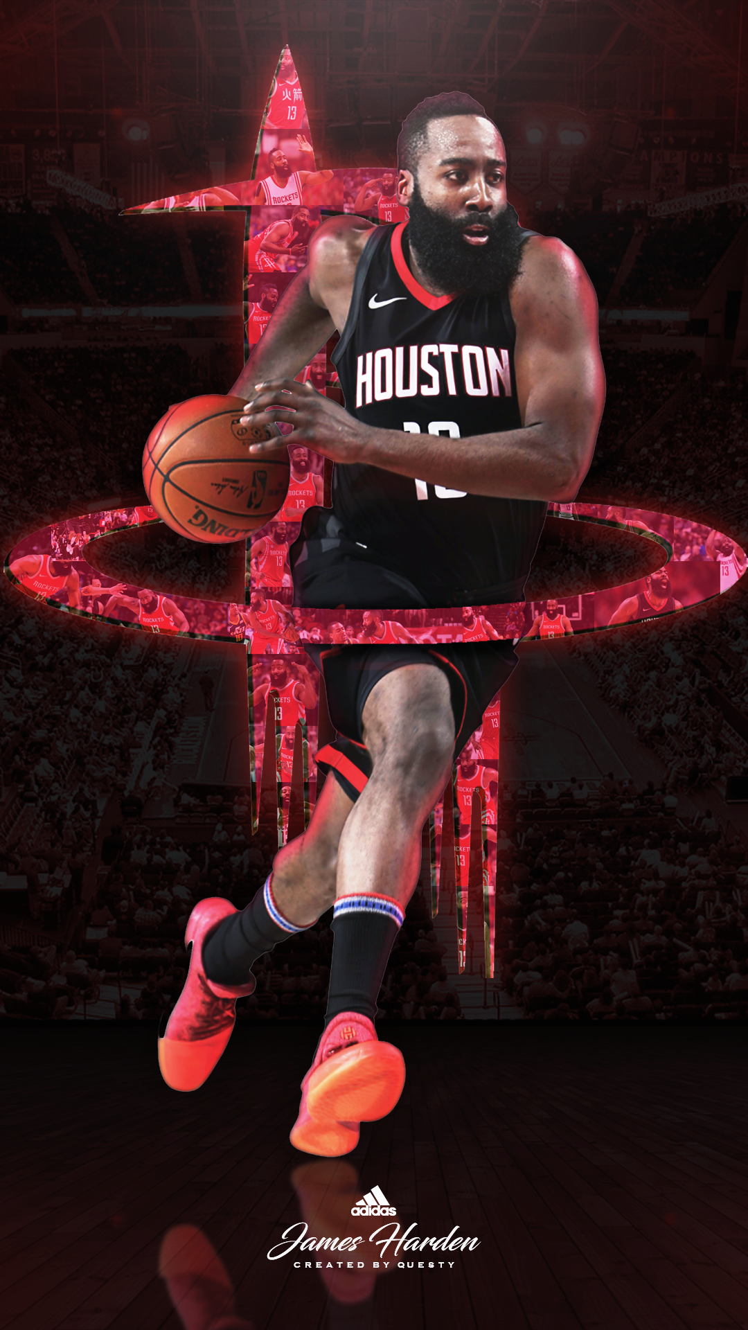 James Harden Background Image in 2020 Nba basketball art