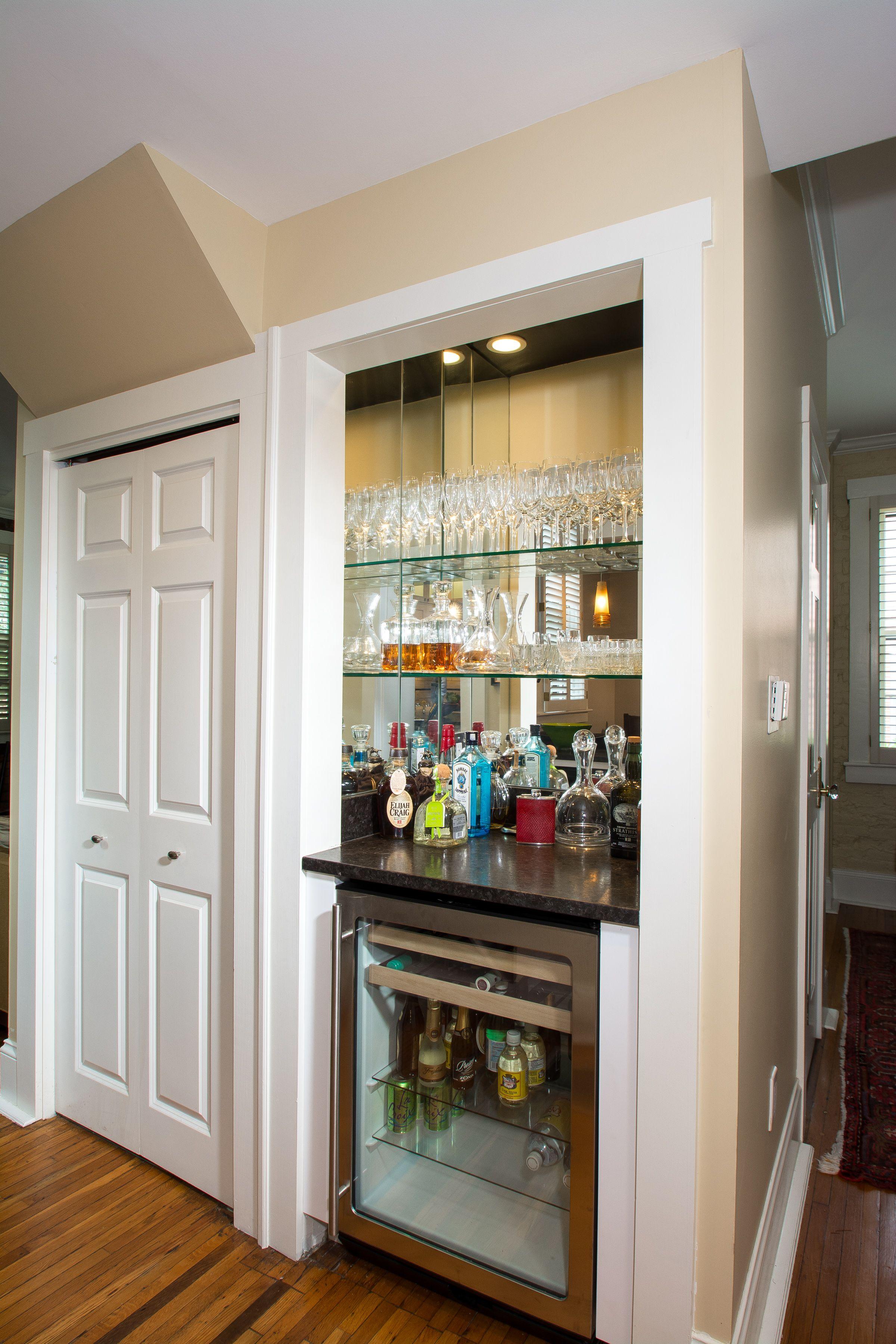 Converted Closet to Wine Bar