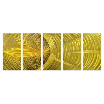 OMAX Golden Hypnotic Sphere Handmade Modern Metal Wall Art - Set of ...