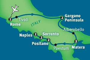 Map Of South Of Italy.Europe Through The Back Door Best Of South Italy In 13 Days Here I