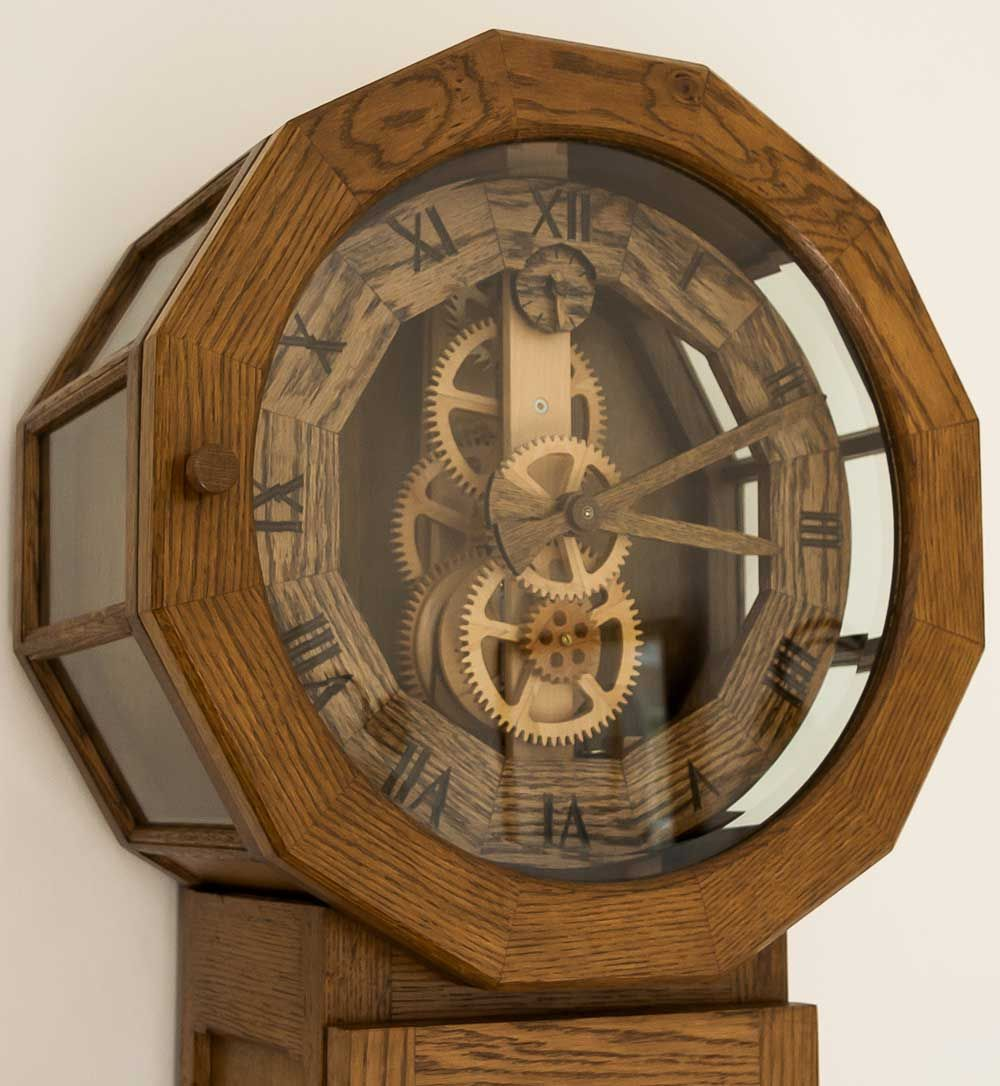 Antique Wooden Gear Clock Decor Ideas Wooden Clock