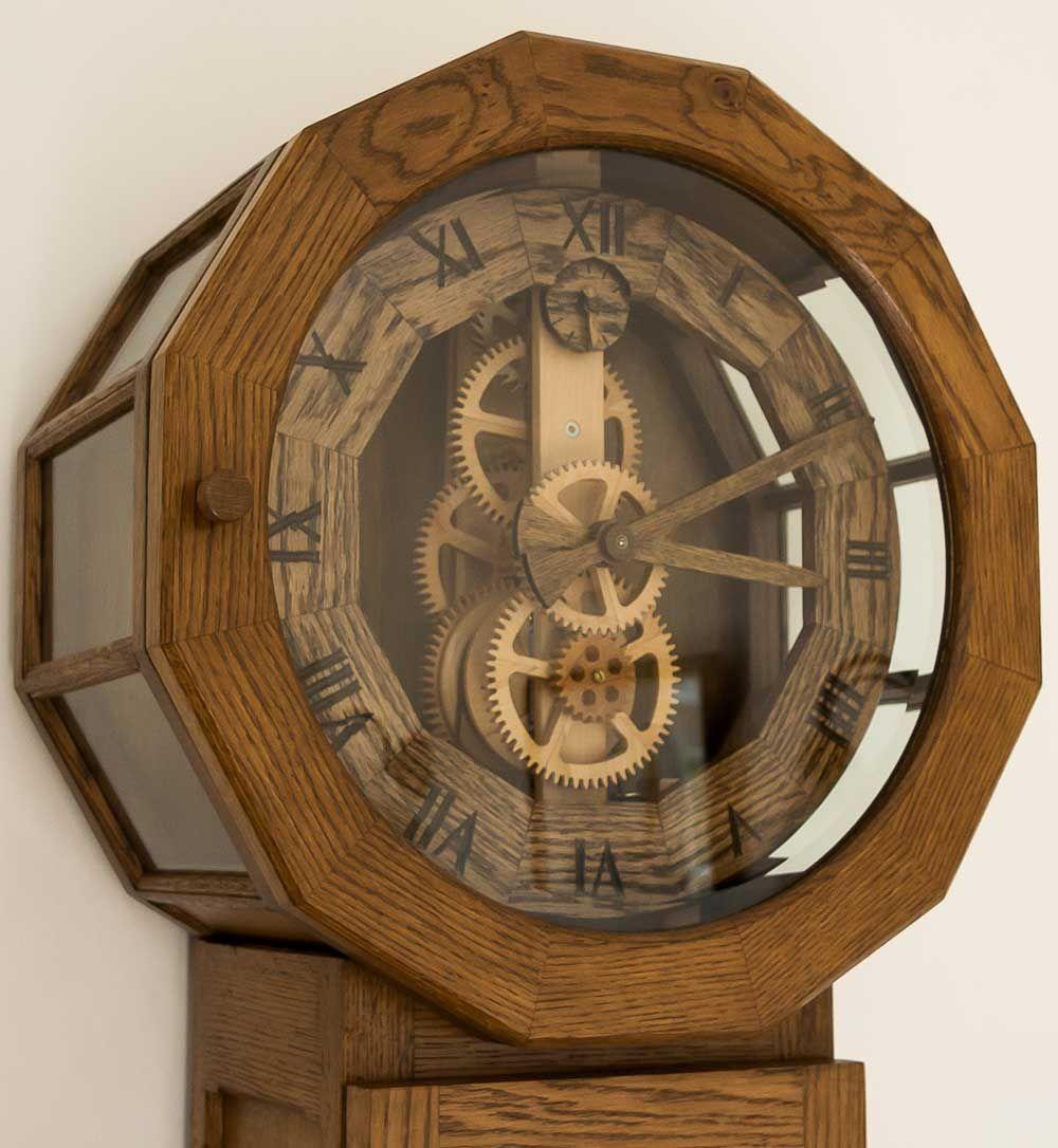 Old Clock Gears : Antique wooden gear clock clocks pinterest
