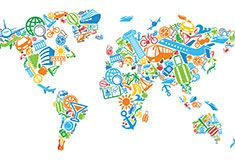 Iconic world world map wallpaper pinterest iconic world gumiabroncs Image collections