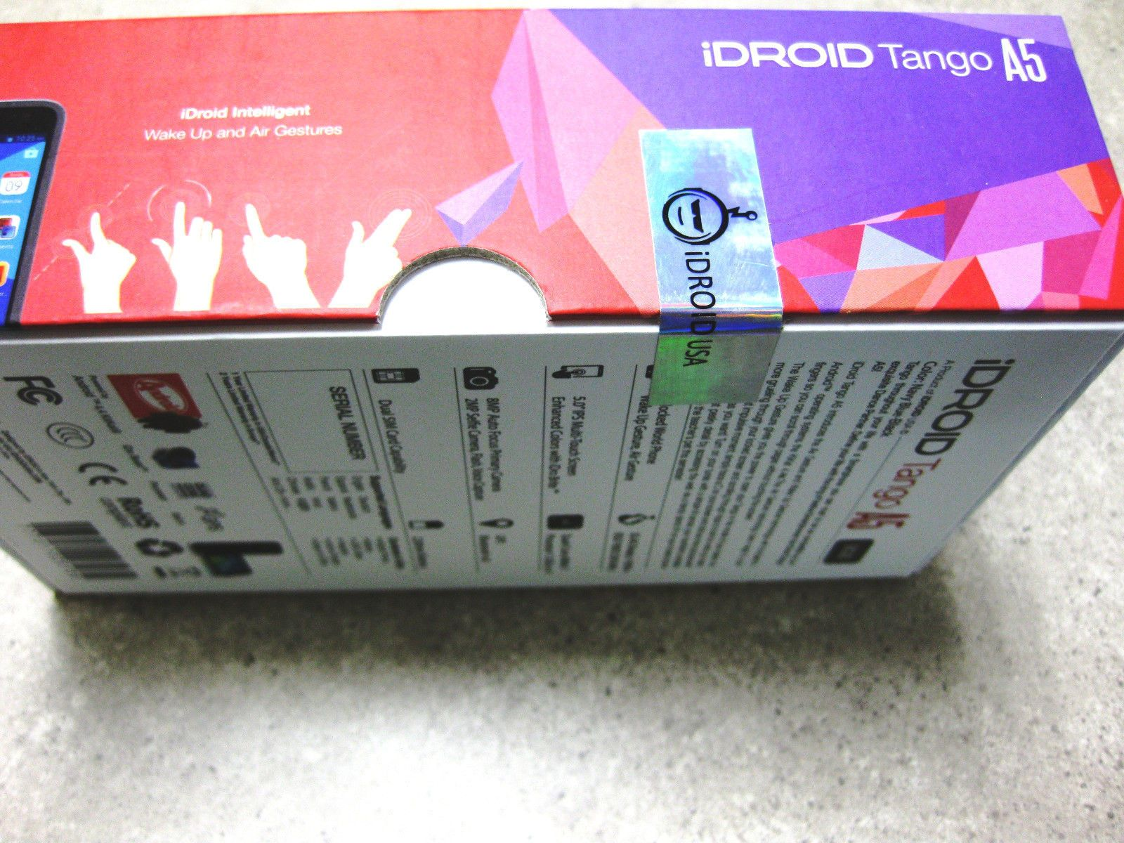 Packing box android smartphone smartphone tango