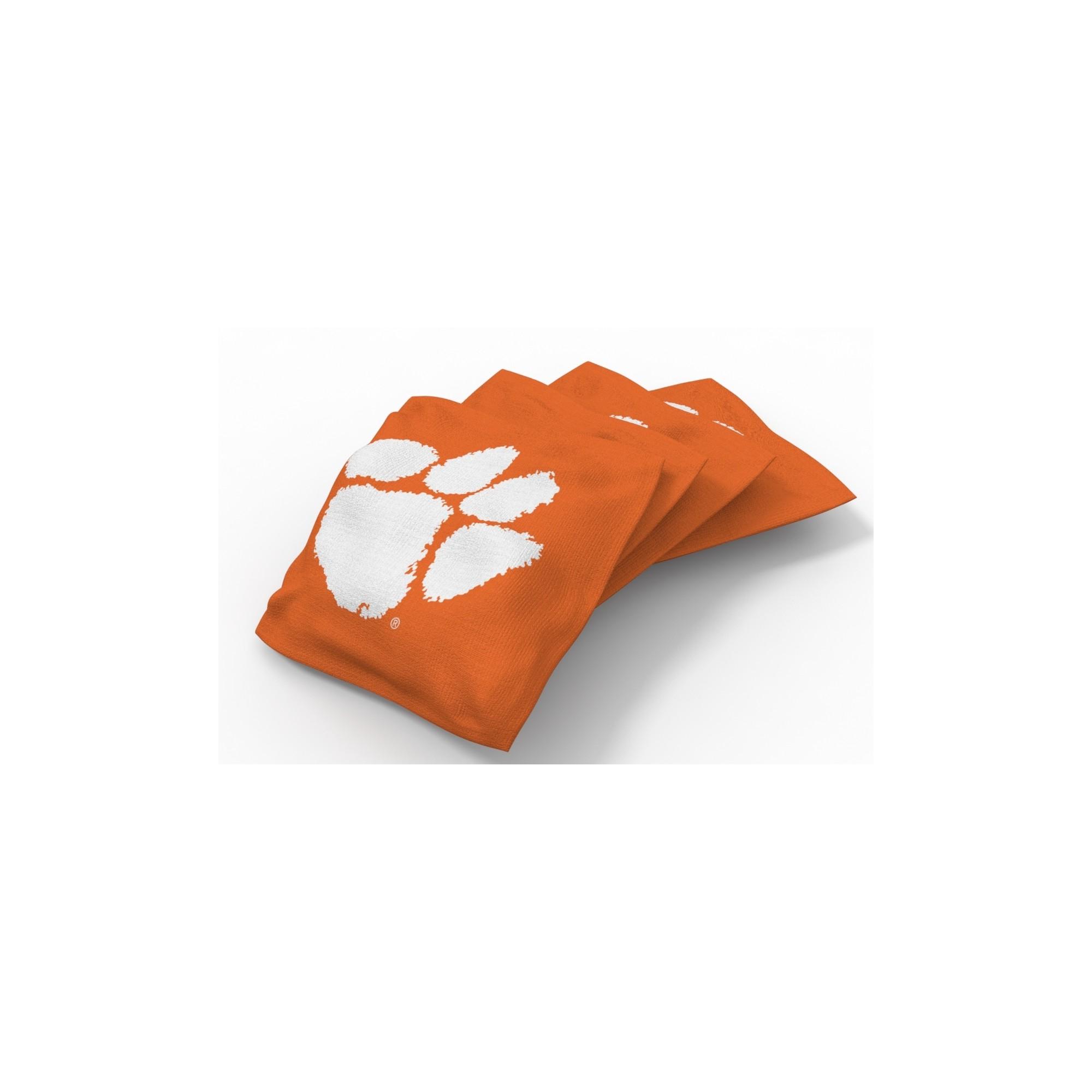 Ncaa Clemson Tigers Wild Sports 4pk Regulation Bean Bag Set