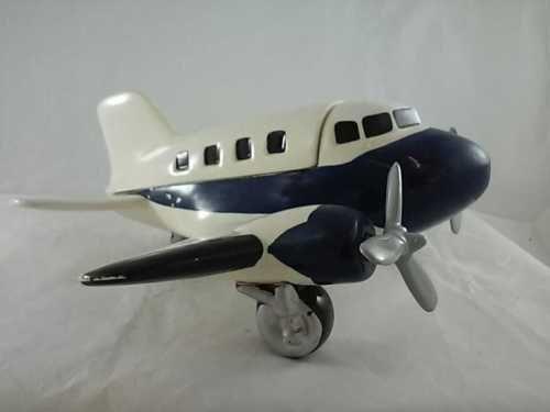 North American Ceramics Airplane Cookie Jar Moveable Propellers
