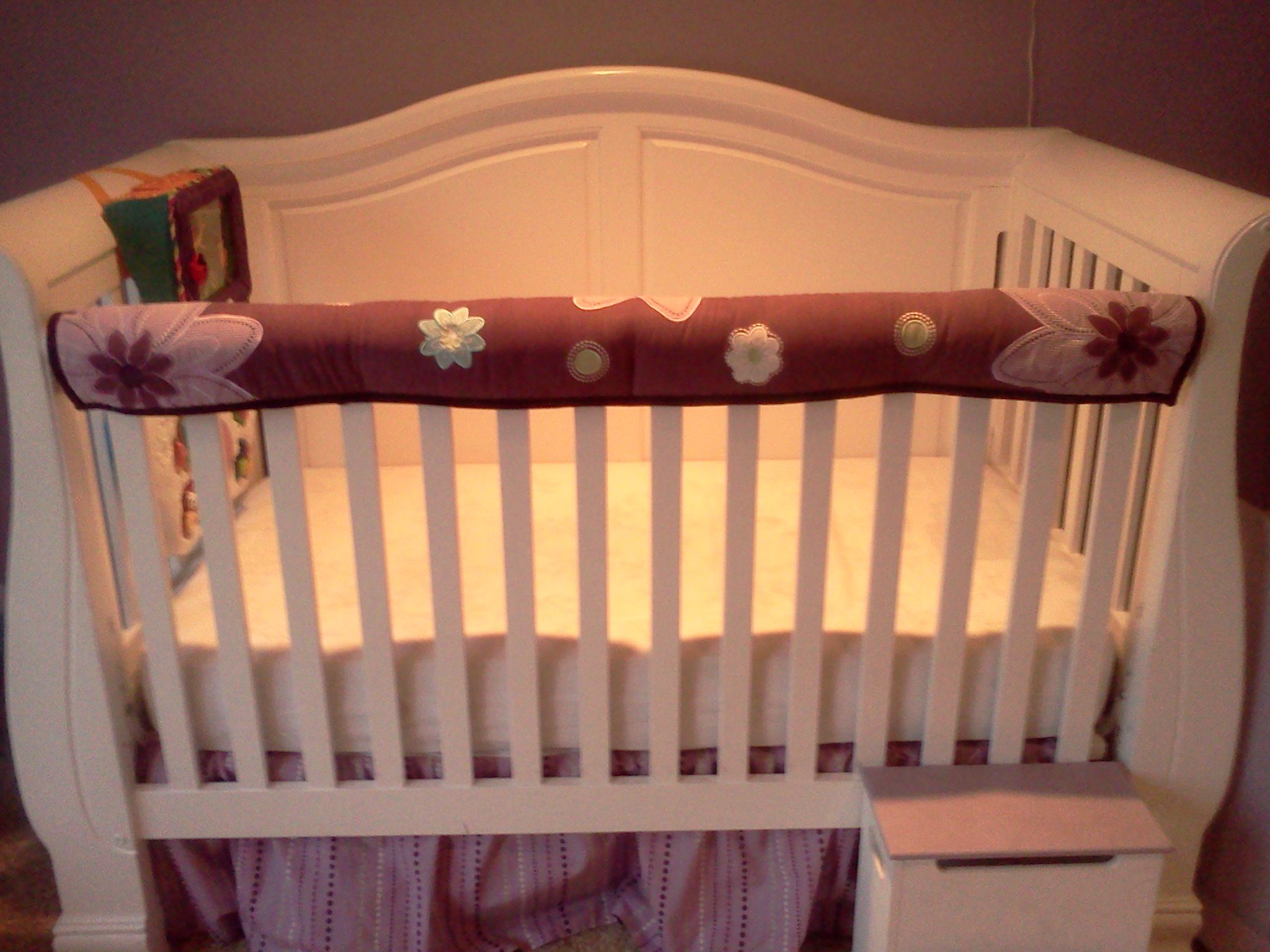 Bumper Pad Upcycle My Baby S Bumper Pad Converted Into A Teething Guard For Her Crib Rail Easy To Tie On And Take O Baby Bumper Baby Room Organization Kids