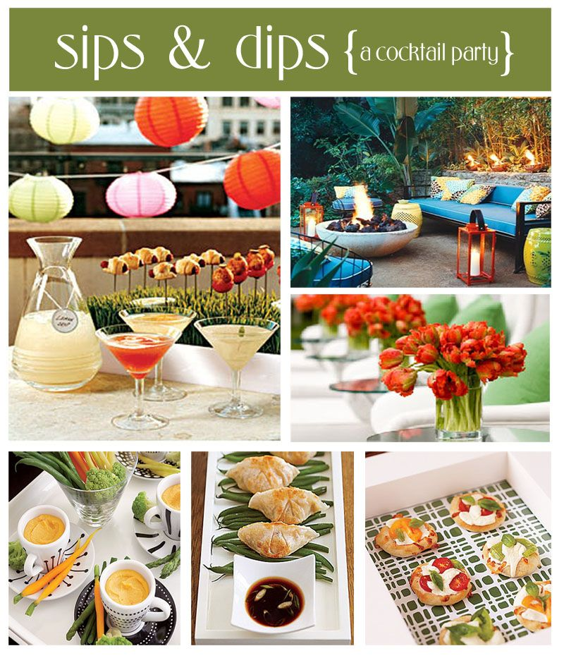 Cocktail Birthday Party Ideas Part - 31: Sips U0026 Dips Party. Ideas For Birthday ...
