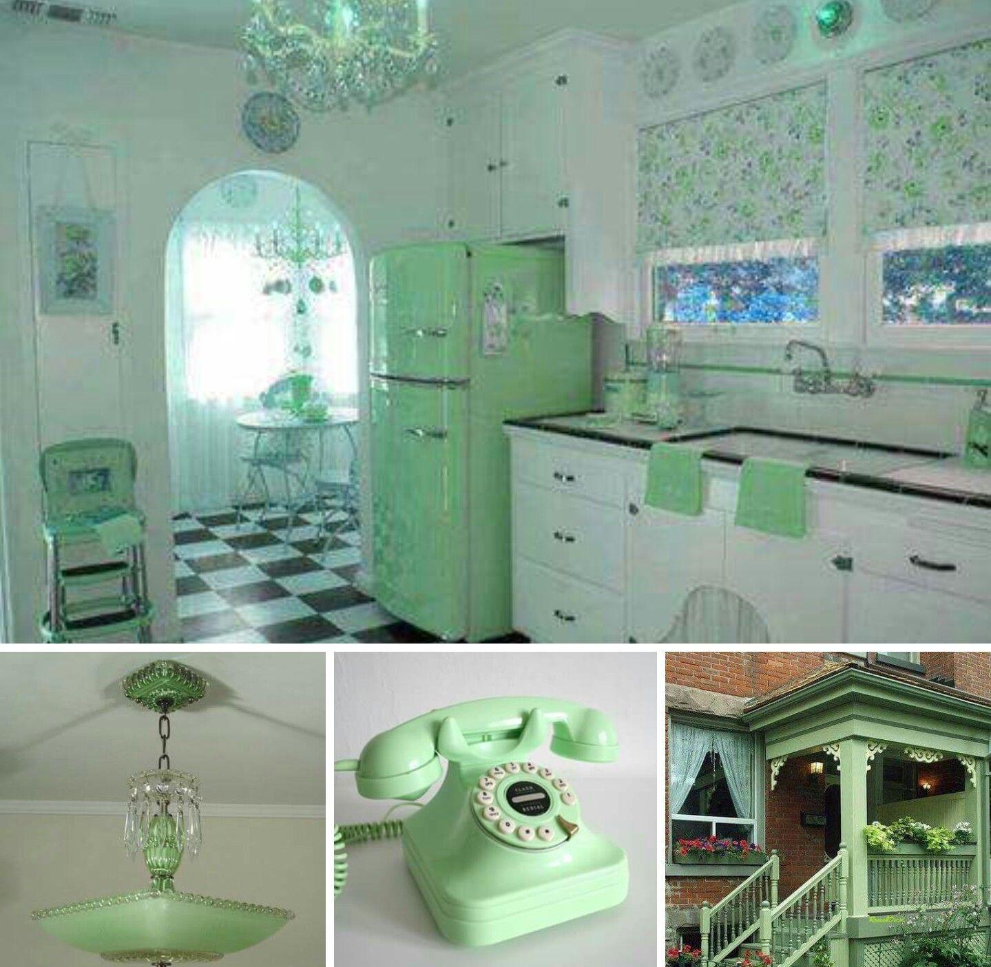 Jadeite Green In 2019 Retro Home Vintage Kitchen