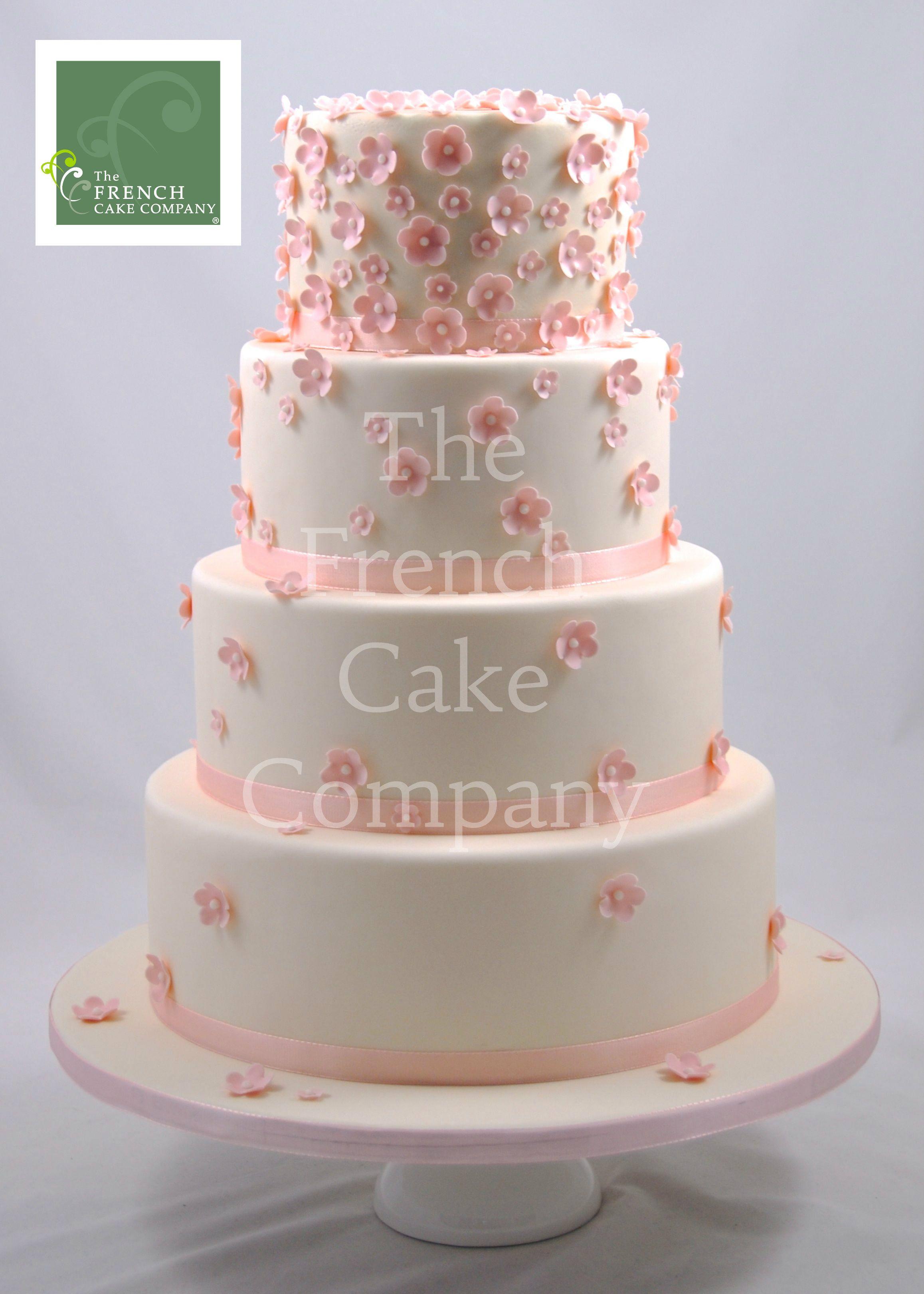 Wedding Cake Pink Flowers Piece Montee Mariage Fleurs Roses