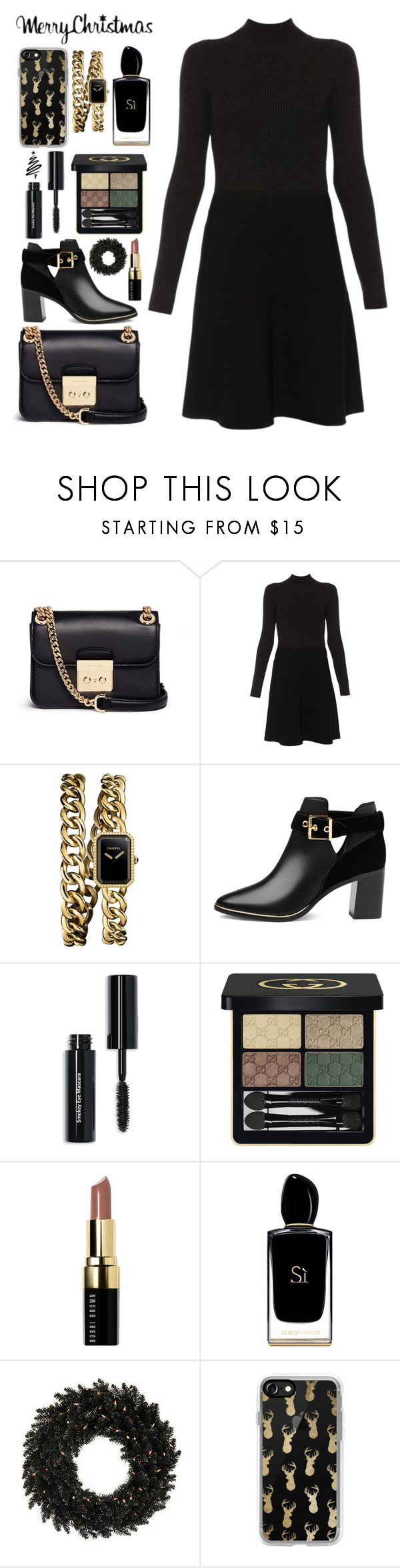 """""""Untitled #930"""" by alissar13 ❤ liked on Polyvore featuring Michael Kors, Paule Ka, Chanel, Ted Baker, Bobbi Brown Cosmetics, Gucci, Giorgio Armani and Casetify"""