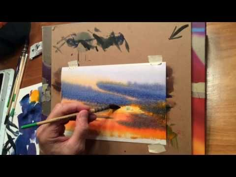 Loose Trees Instructional Watercolor Video By Ken Hobson