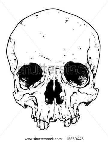 Afbeeldingsresultaat Voor Skull Outline Skull Drawing Human Skull Drawing Skull