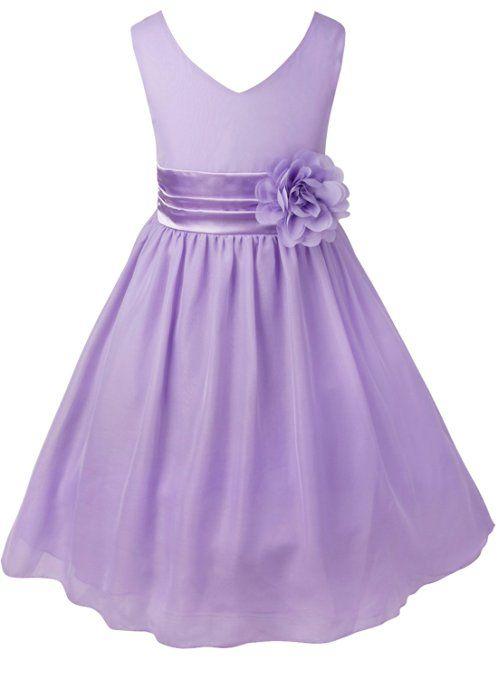 Tiaobug Kinder Mädchen Kleid Festlich Blumen-mädchen Chiffon Kleid ...