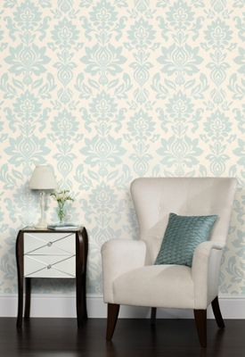 Bedroom Ideas Homebase laura ashley - hampstead - duck egg - wallpaper | homebase | house