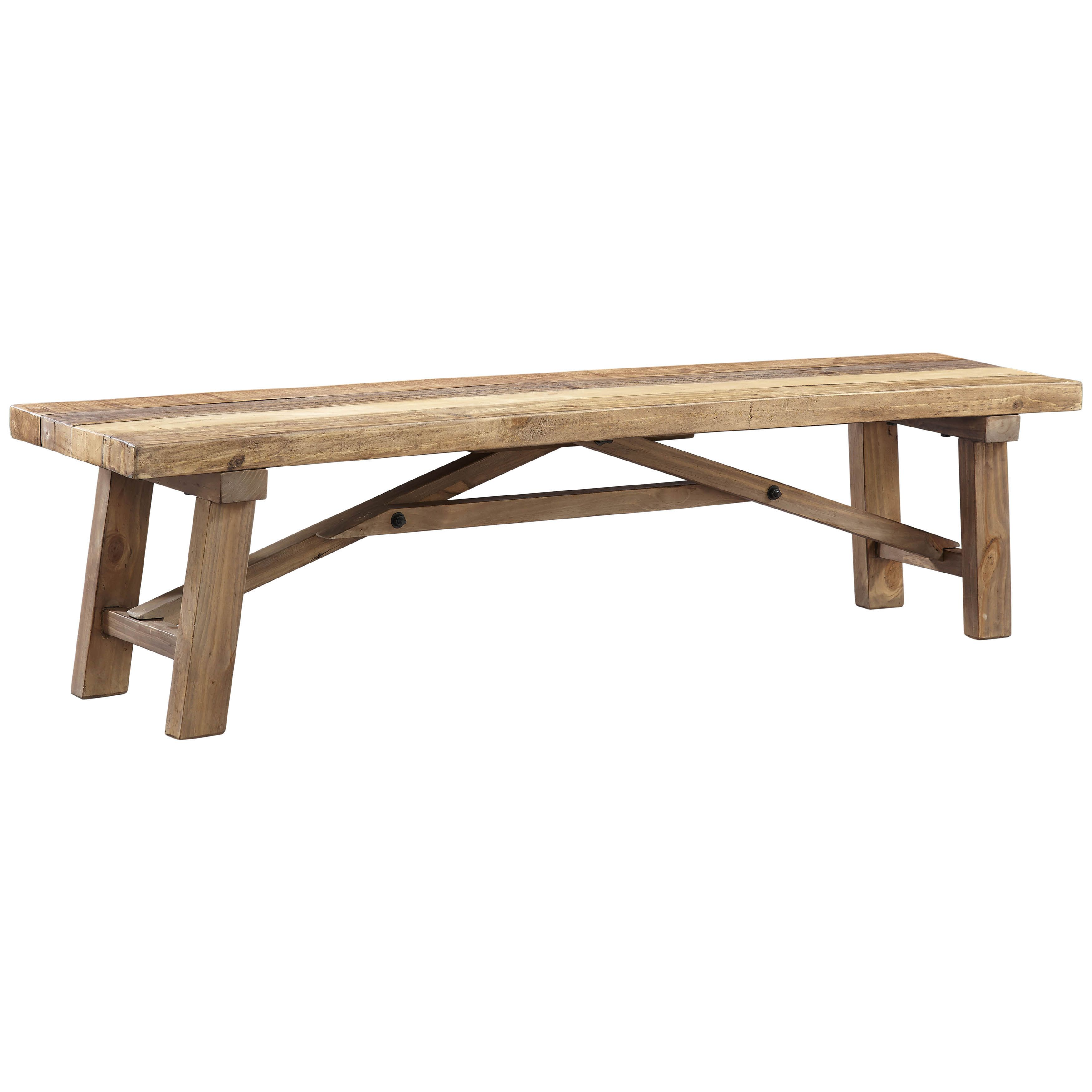 Art Van Scottsdale Pine Wood Dining Bench