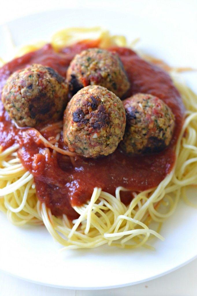 Spaghetti & Vegan Meatballs - Fork & Beans