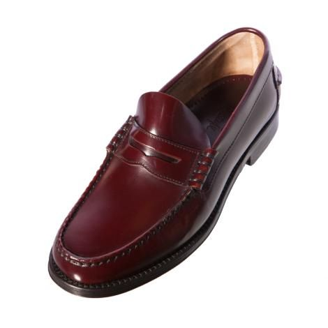 a39d1b2379a Loake Princeton Burgundy Polished Leather Loafer Shoe Description Leather  Soles Genuine Moccasin Construction Last Prince F