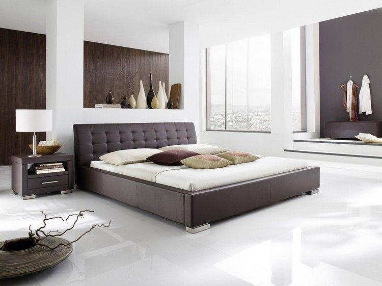 Moderne Schlafzimmer Farben Braun Vermittelt Luxus Minimalistisch