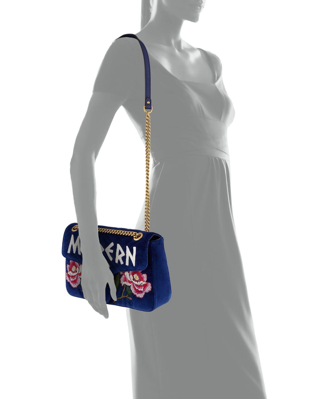 373e2b48244ec3 Gucci GG Marmont Modern Velvet Shoulder Bag, Cobalt in 2019 | Wish ...