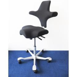 Photo of Saddle chair Haag Caipisco fully upholstered wool fabric Fame black on-site article