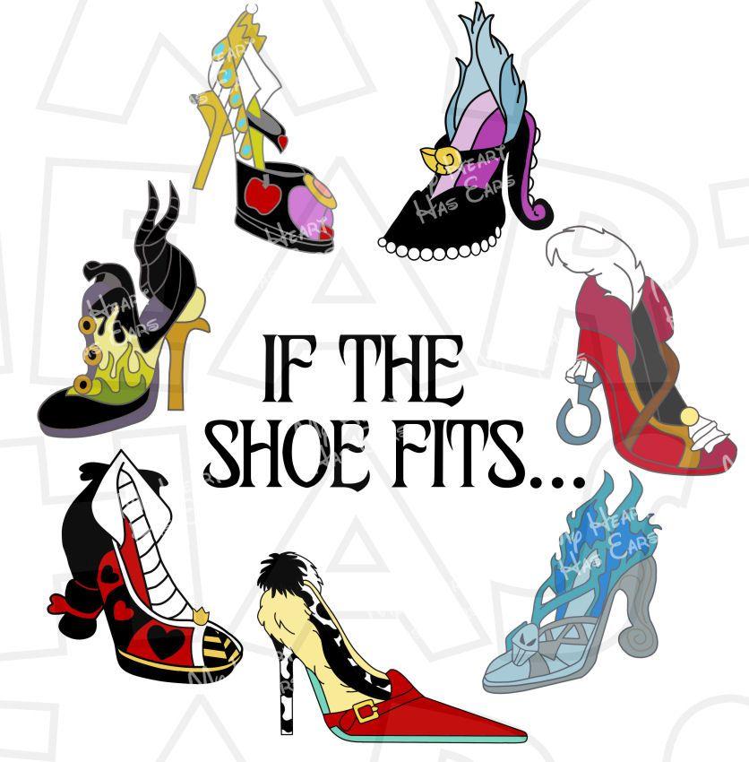 if the shoe fits disney villain shoes instant download digital clip rh pinterest ph All Disney Villains Disney Villains deviantART