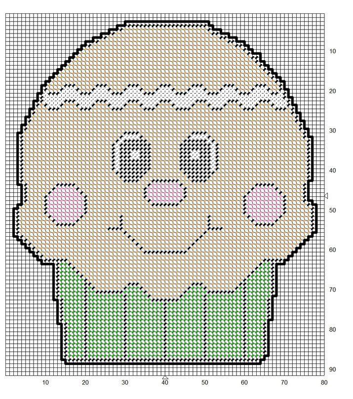 GINGERBREAD BOY CUPCAKE WALL HANGING   plastic canvas   Pinterest