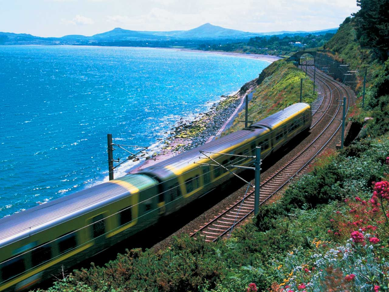 Take The Dart Dublin Area Rapid Transit Train From City Centre To Bray In Adjoining County Wicklow Garden Of Ireland For Beautiful And